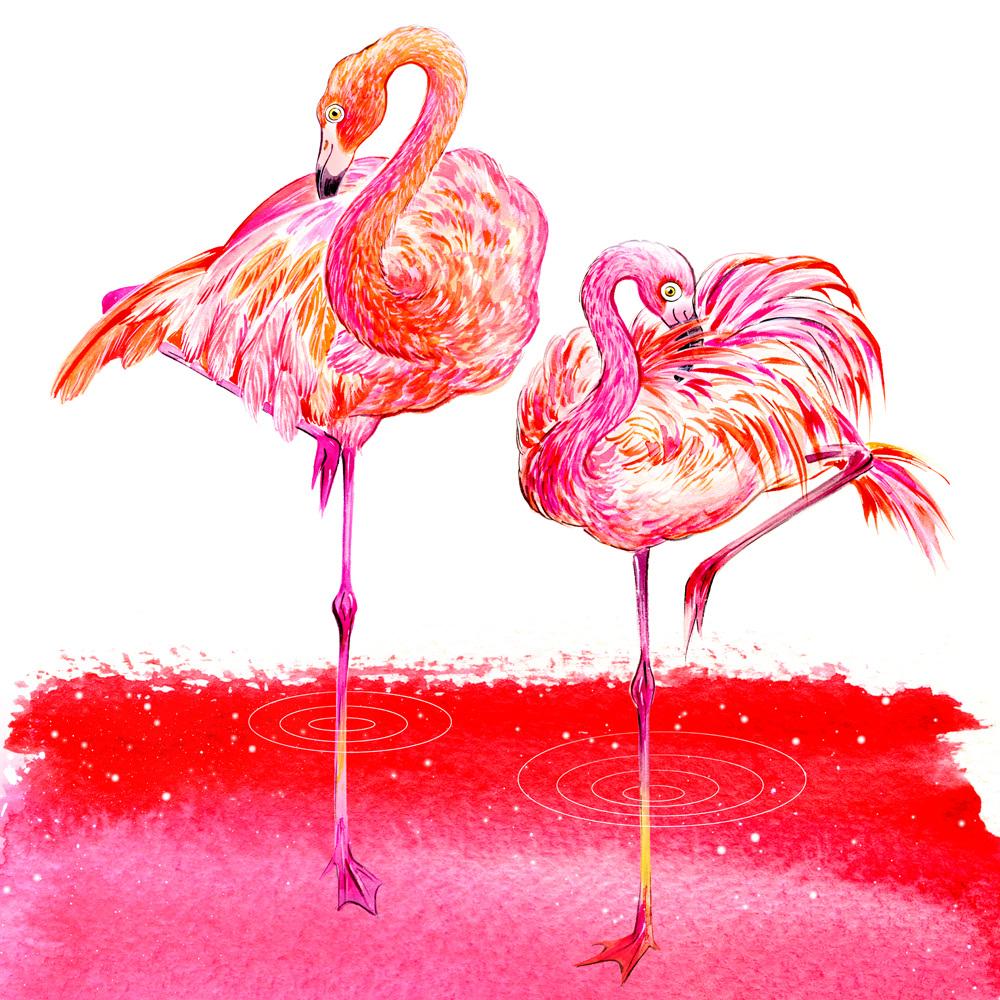 Summery Gems Flamingo Love Sunny Gu