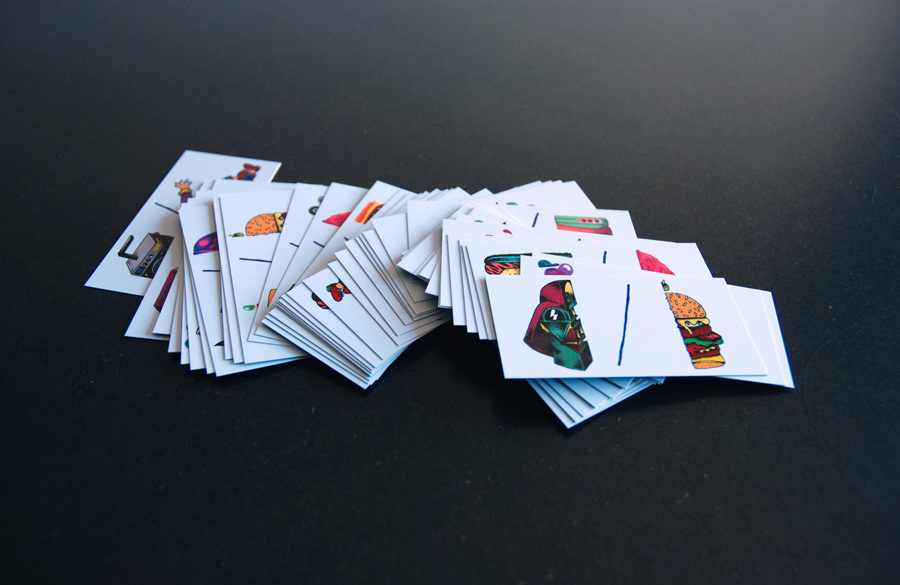 The domino business cards dann so what better way to start a meeting than by playing dominoes with their own business cards reheart Gallery